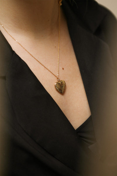 Suffero Doré Gold Heart Locket Pendant Necklace | Boutique 1861 2