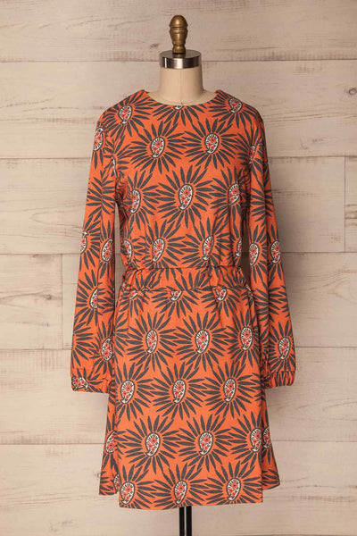 Surice Orange Floral & Paisley Print Tunic Dress | La Petite Garçonne
