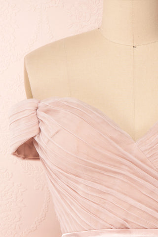 Synga Petal Gradient Pink Off-Shoulder Short Dress | Boutique 1861