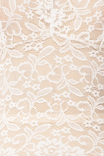 Takehara White Lace Fitted Top | Boudoir 1861