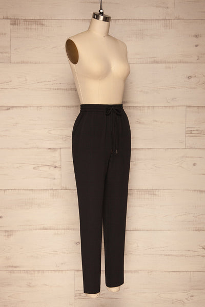 Tarento Black Light Drawstring Pants | La petite garçonne side view