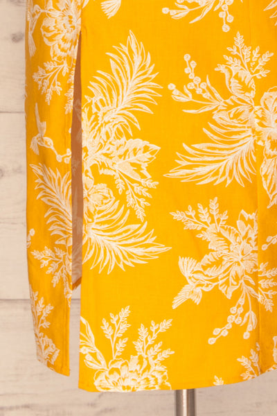 Tarouca Yellow Patterned Midi Dress | La petite garçonne bottom