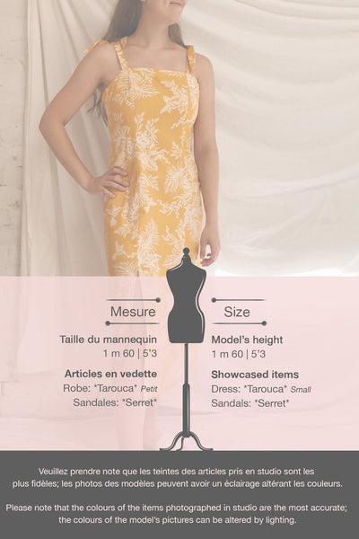 Tarouca Yellow Patterned Midi Dress | La petite garçonne template