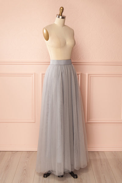 Télia Brume Light Grey Tulle Skirt | Boudoir 1861 3