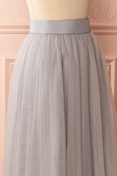 Télia Brume Light Grey Tulle Skirt | Boudoir 1861 4