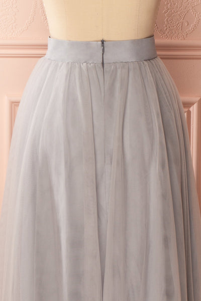Télia Brume Light Grey Tulle Skirt | Boudoir 1861 6