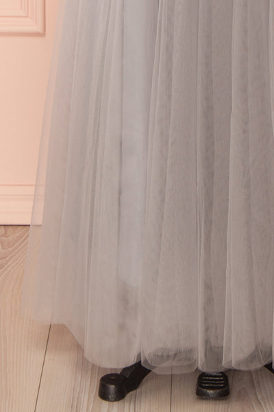 Télia Brume Light Grey Tulle Skirt | Boudoir 1861 7