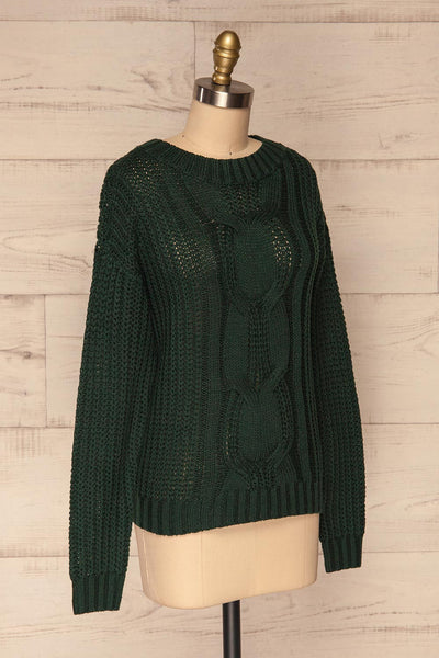 Temerin Pine Green Knit Sweater | Tricot | La Petite Garçonne side view