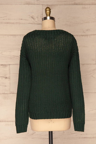Temerin Pine Green Knit Sweater | Tricot | La Petite Garçonne back view