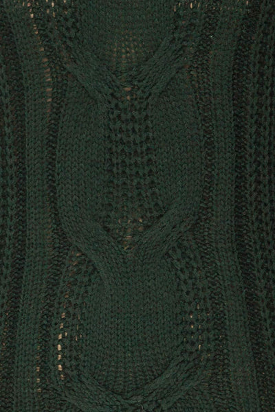 Temerin Pine Green Knit Sweater | Tricot | La Petite Garçonne fabric detail