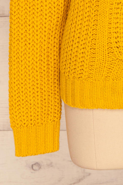 Temerin Sunflower Knit Sweater | Tricot | La Petite Garçonne bottom close-up