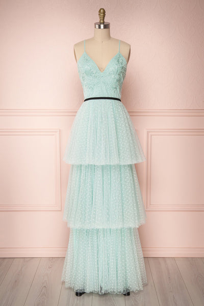 Tenya Menthe | Mint Green Layered Dress