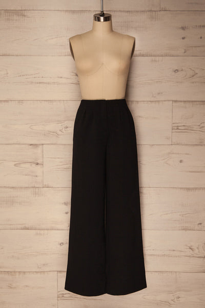 Teodone Black Wide Leg High Waisted Pants | La Petite Garçonne