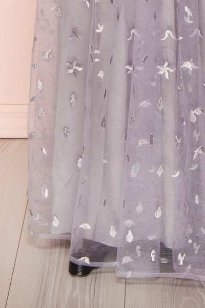 Terese Grey Floral A-Line Bustier Gown | Boutique 1861 bottom close-up