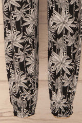 Terlizzi Black & White Tropical Lounge Pants | La Petite Garçonne