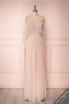 Tevaiho Blush Pink Gown w/ Silver Cape | Boutique 1861