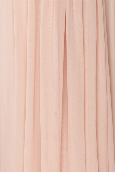 Tevaiho | Pink Gown w/ Silver Cape