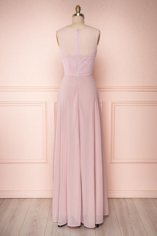 Thayna Mauve Purple Embroidered Maxi Prom Dress | Boutique 1861