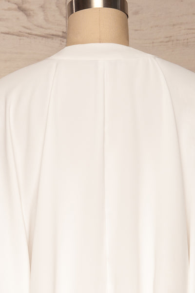 Thebes White Kimono Style Crop Top | La petite garçonne back close up