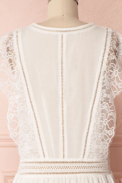 Timeri White Sleeveless Lace & Cut-Outs Short Dress | Boutique 1861
