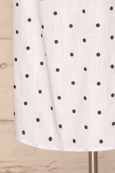 Tirana White Polka Dot Wrap Dress | La petite garçonne bottom