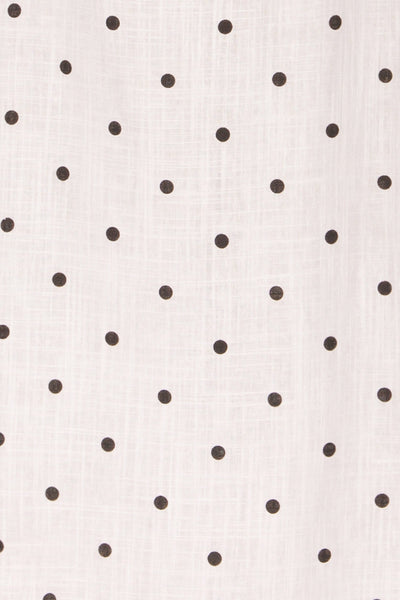 Tirana White Polka Dot Wrap Dress | La petite garçonne fabric