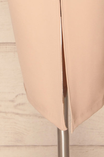Tivoli Blush Pink V-Neck Midi Dress | La petite garçonne  bottom