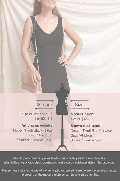 Tivoli Black V-Neck Midi Dress | La petite garçonne template