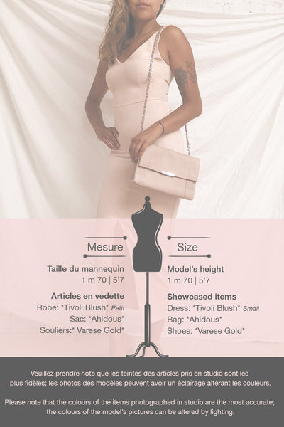 Tivoli Blush Pink V-Neck Midi Dress | La petite garçonne template