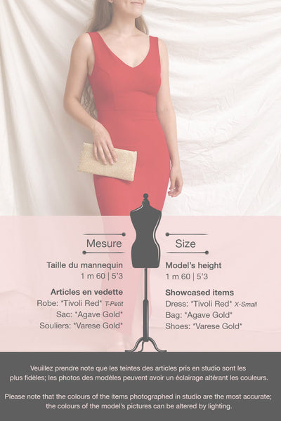 Tivoli Red V-Neck Midi Dress | La petite garçonne template
