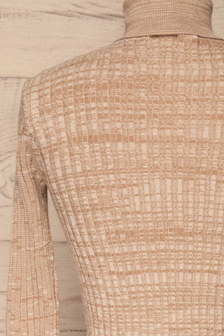 Tomsk Beige Turtleneck Top | Haut | La Petite Garçonne back close-up