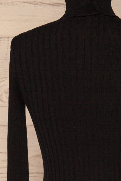 Tomsk Black Turtleneck Top | Haut | La Petite Garçonne back close-up