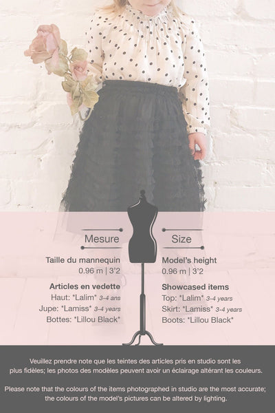 Lamiss Mini Black Ruffled Tulle Kid's Skirt | Boutique 1861 template