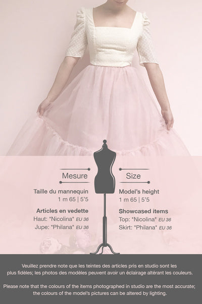 Philana Dusty Pink A-Line Tulle Skirt | Boutique 1861 template