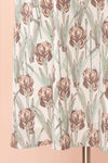 Tracee Pastel Floral Midi Flared Dress | Boutique 1861 bottom close-up