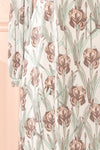 Tracee Pastel Floral Midi Flared Dress | Boutique 1861 sleeve close-up