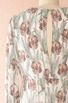 Tracee Pastel Floral Midi Flared Dress | Boutique 1861 back close-up
