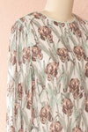 Tracee Pastel Floral Midi Flared Dress | Boutique 1861 side view