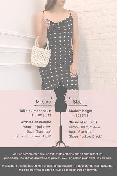 Trijntje Black & White Polkadot Dress | La petite garçonne template