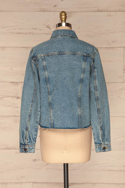 Tripani Light Blue Denim Jacket | Veste | La Petite Garçonne back view