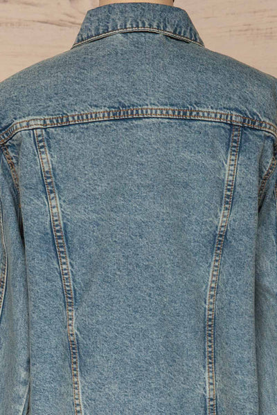 Tripani Light Blue Denim Jacket | Veste | La Petite Garçonne back close-up
