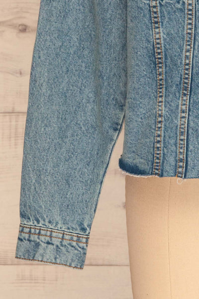 Tripani Light Blue Denim Jacket | Veste | La Petite Garçonne bottom close-up