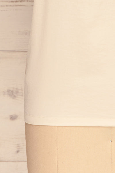 Tullow Cream Satin Camisole | Haut | La Petite Garçonne bottom close-up