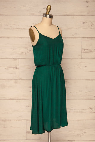 Udine Emerald Green Dress | Robe Verte side view | La Petite Garçonne