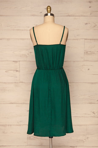 Udine Emerald Green Dress | Robe Verte back view | La Petite Garçonne