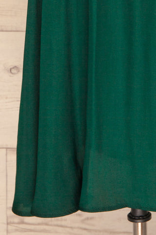 Udine Emerald Green Dress | Robe Verte skirt close up | La Petite Garçonne