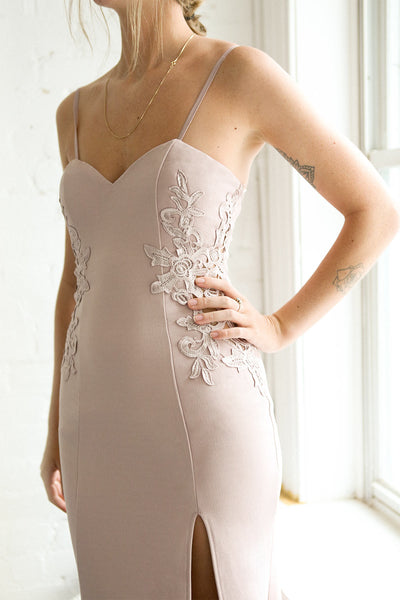 Ulianna Mauve Lilac Bustier Mermaid Gown with Lace | Boudoir 1861