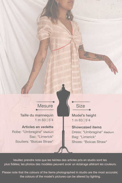 Umbragine Beige Short Sleeve Midi Dress | Boutique 1861 template