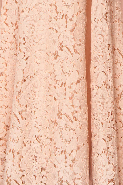 Uranie Blush Pink Lace Mermaid Gown | Boudoir 1861 fabric detail
