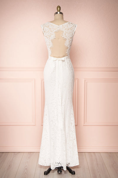 Uranie Ivoire Ivory Lace Mermaid Gown | Boudoir 1861 back view